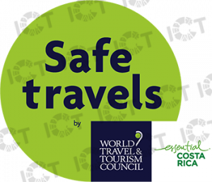 Costa Rica heeft de Safe Travels zegel toegekend gekregen door het World Travel & Tourism Council